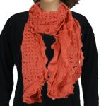 Scarves - Scalloped Edge Mohair Style  4069