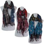 Scarves - Flowers and Dots 8138