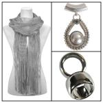 Scarves - Metallic 3117 w/ Pendant