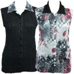 Magic Crush-9 Button Reversible Sleeveless Jackets