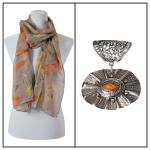 Scarves - Feathers 3130 w/ Pendant