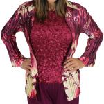 Combo Satin Mini Pleat Blouse and Satin Petals 3/4