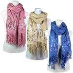 Scarves- Flower Sequined - Cashmere Feel 4110