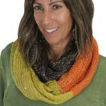 Infinity Scarves - Knit Sequined 4308