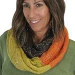 Infinity Scarves - Knit Sequined 4308*