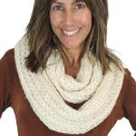 Infinity Scarves - Crochet Sequined 4322