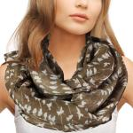 Infinity Scarves Wide - Small Bird Print 4342