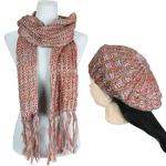 Scarf & Hat Set - Knit Sequined