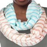Infinity Scarves Wide - Multi Color Stripe 0830