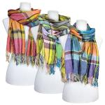 Scarves - Multi Colored Checkered 974