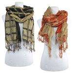 Scarves - Checkered/Solid 1104