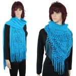 Scarves - Two Way Knit Tube with Fishnet