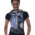 Oblong Scarves - Circle Abstract 1191*