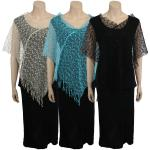 Poncho - Mesh Sequined 051