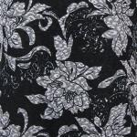 Floral Silver on Black Slinky Line