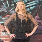 Poncho - Open Weave Sequin 8031