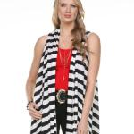 Jersey Knit Vests - Striped - 8058 and 8059