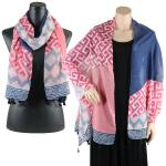 Big Scarves/Shawls - Greek Key Pattern 4125