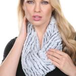 Infinity Scarves - Fur Two-Tone 8156