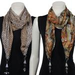 Oblong Scarves - Sheer w/ Hanging Pendants*
