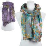 Cotton Feel Oblong Scarves for Spring and Summer