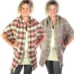 Shawls - Reversible Plaid to Check 14092