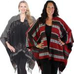 Ruana-Style Wool Feel Capes