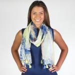 Oblong Scarves - Abstract Floral 8799