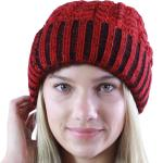 Knit Beanie - Two Tone Fur Lined 9165