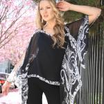 Silky Button Poncho/Cape