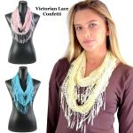 Infinity Scarves - Victorian Lace Confetti