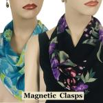 Georgette Triangle Scarves with Magnetic Clasp