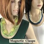 Shanghai Beaded Necklace with Magnetic Clasp