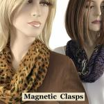 Animal Print Scarf with Magnetic Clasp