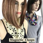Charmeuse Scarves with Magnetic Clasp