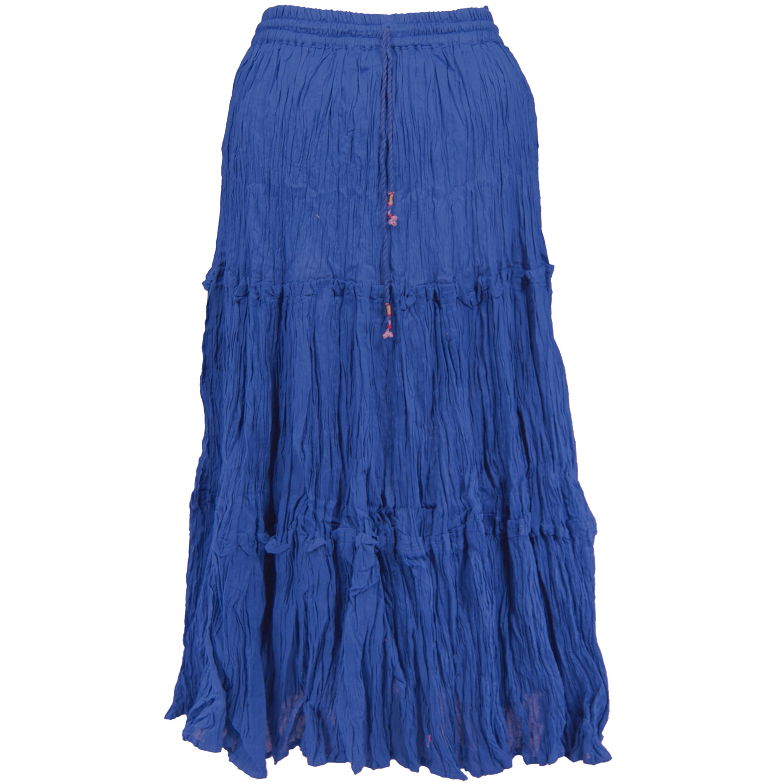 Wholesale Skirts - Long Cotton Broomstick with Pocket 503 Ankle Length - Royal - One Size (S-XL)