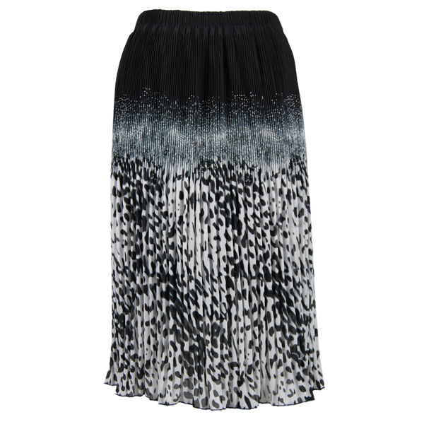Skirts - Georgette Micro Pleat Calf Length *