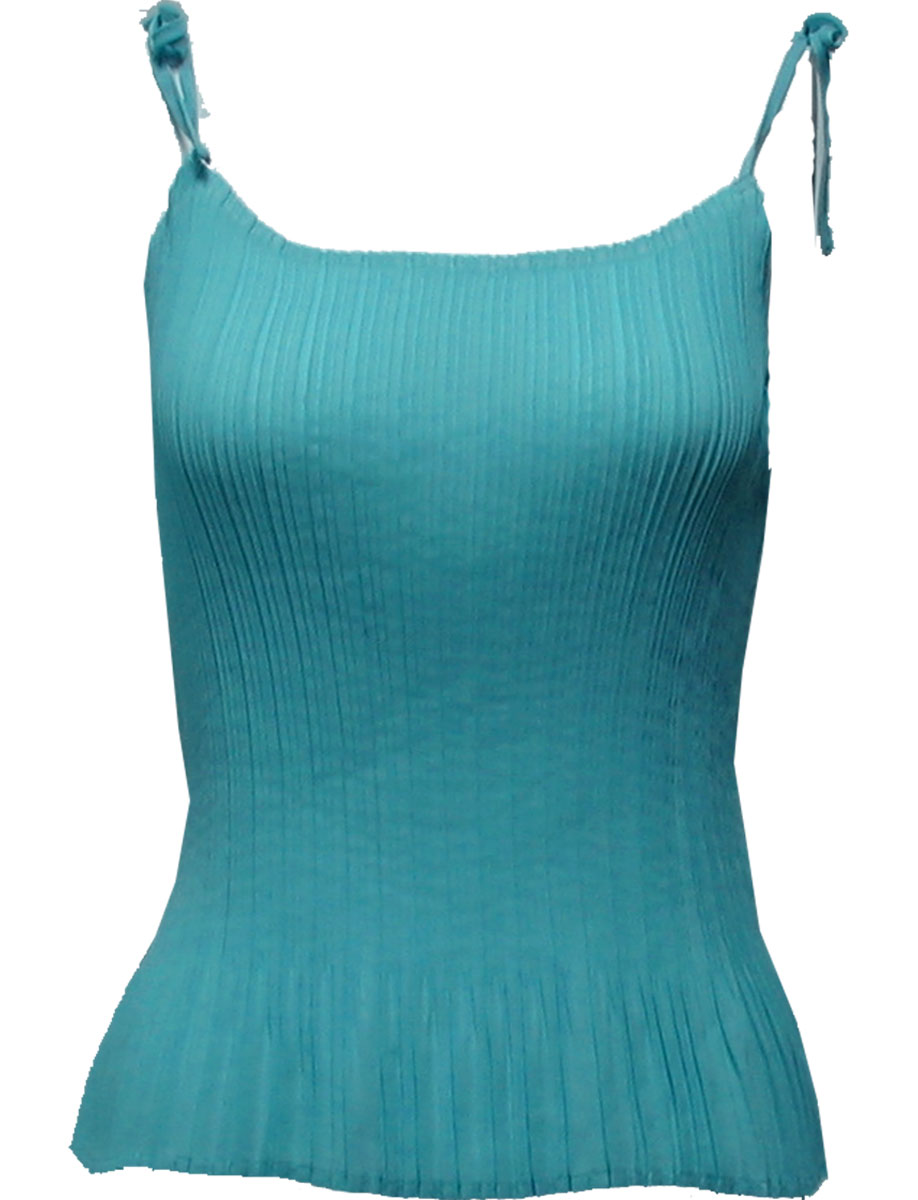 Wholesale Skirts - Georgette Mini Pleat Ankle Length*  Solid Aqua - One Size (S-L)