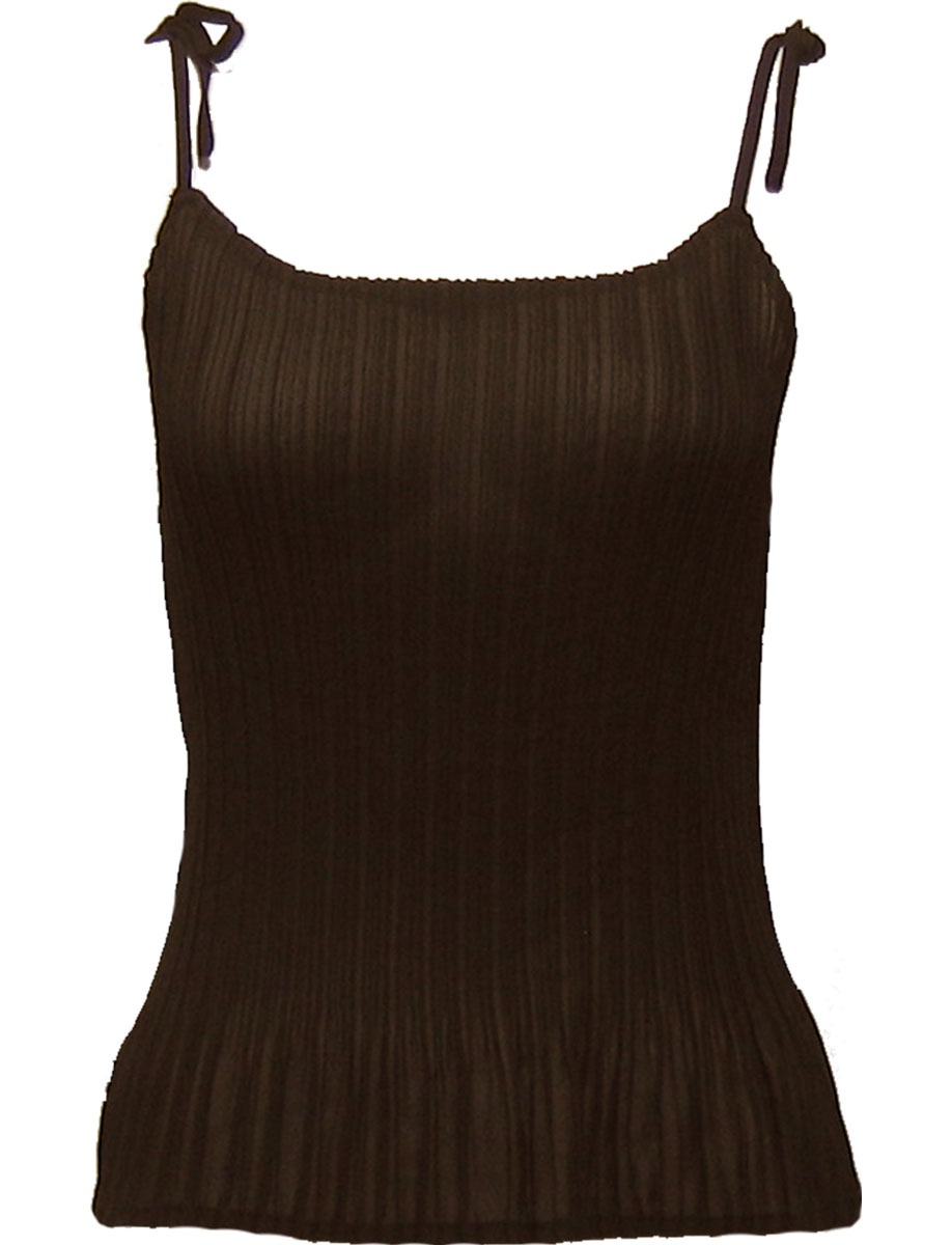 Wholesale Skirts - Georgette Mini Pleat Ankle Length*  Solid Dark Brown - One Size (S-L)