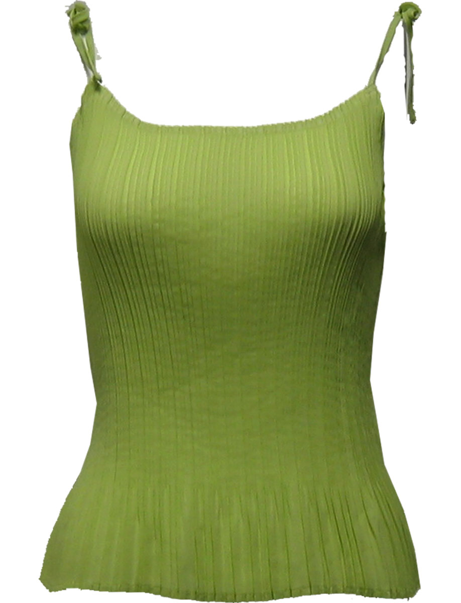 Wholesale Skirts - Georgette Mini Pleat Ankle Length*  Solid Green - One Size (S-L)