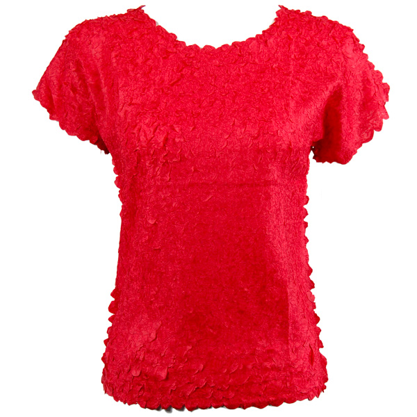 Petal Shirts - Cap Sleeve - Solid Red