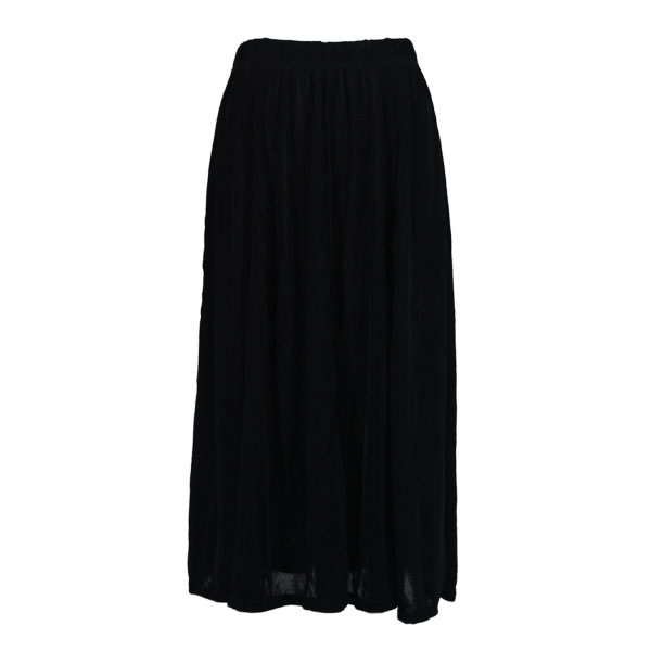 Wholesale Ultra Light Crush Silky Touch - Cap Sleeve* Black Slinky Travel Skirt - One Size (S-XXL)