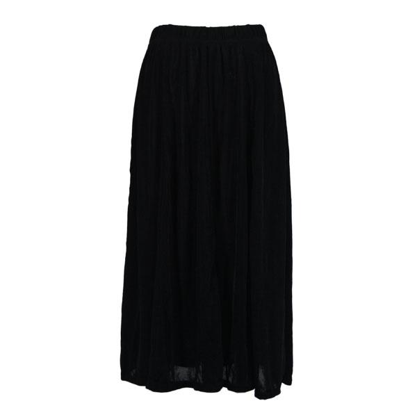 Wholesale Origami - Short Sleeve Black Slinky Travel Skirt - One Size (S-XXL)