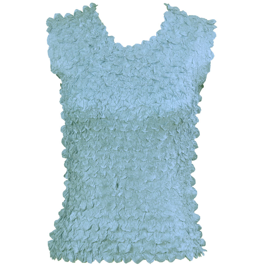 Petal Shirts - Sleeveless - Solid Azure