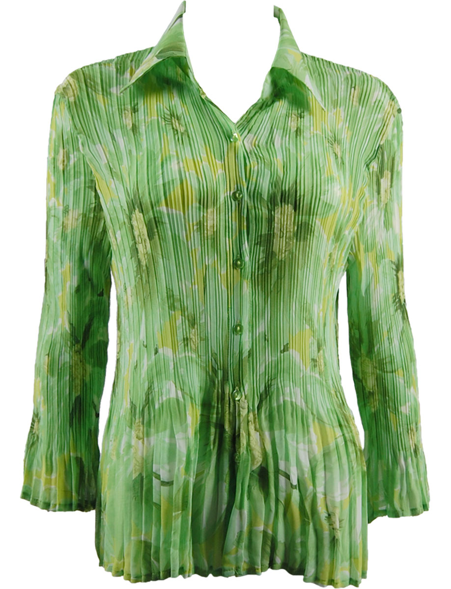 Wholesale Magic Crush Georgette - Cap Sleeve* Daisies - Green - One Size (S-XL)