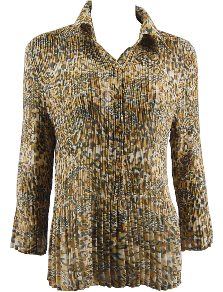 Wholesale Magic Crush Georgette - Cap Sleeve* Leopard Print - One Size (S-XL)