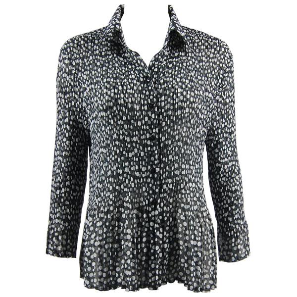 Wholesale Magic Crush Georgette - Cap Sleeve* Polka Dot Black-White - One Size (S-XL)