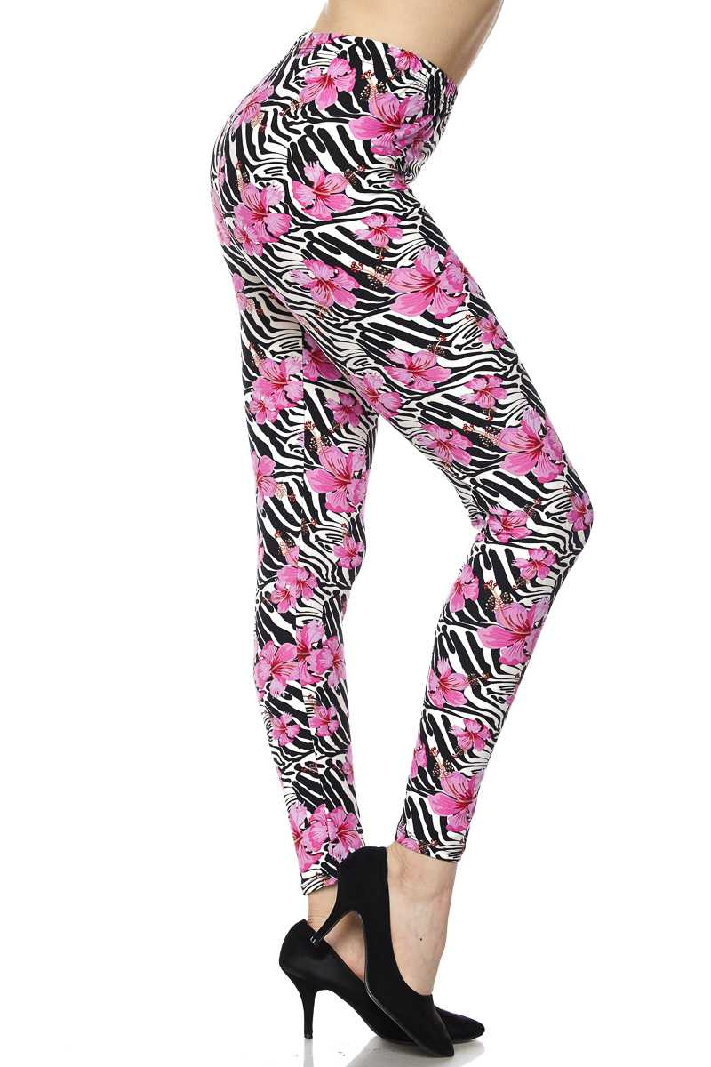 Brushed Fiber Leggings - Ankle Length Prints SOL0P