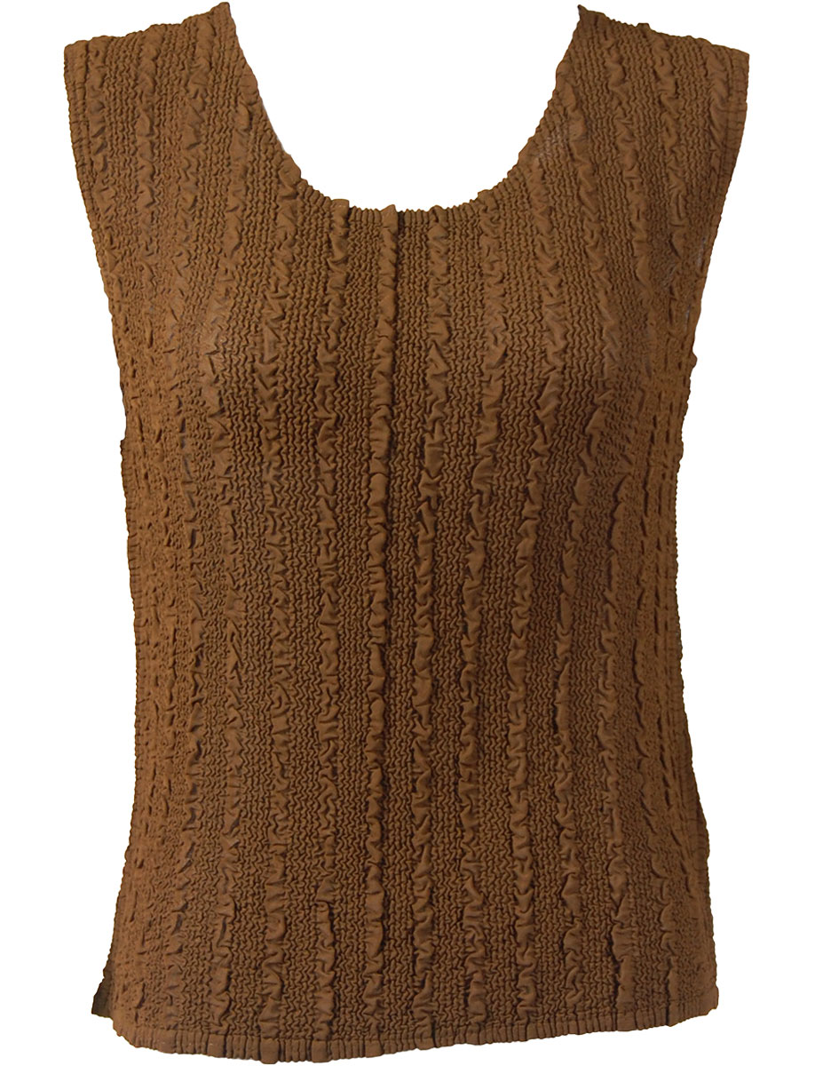 Magic Crush Georgette - Sleeveless* - Solid Brown