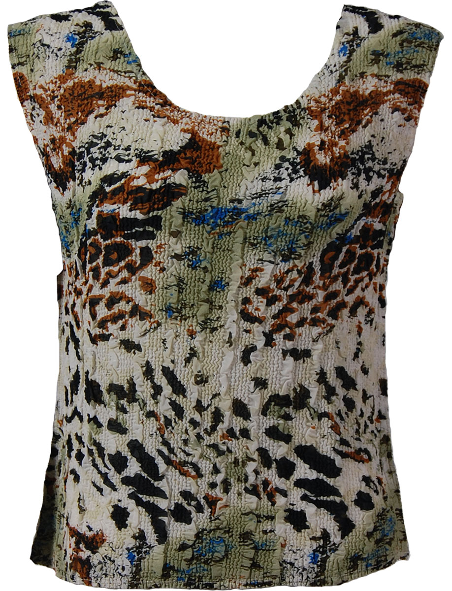 Magic Crush Georgette - Sleeveless* - Reptile Floral - Light Green